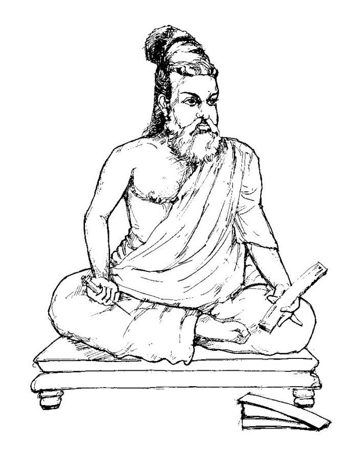 Line Art Action Photo : Thiruvalluvar drawing imgkid the image kid has it