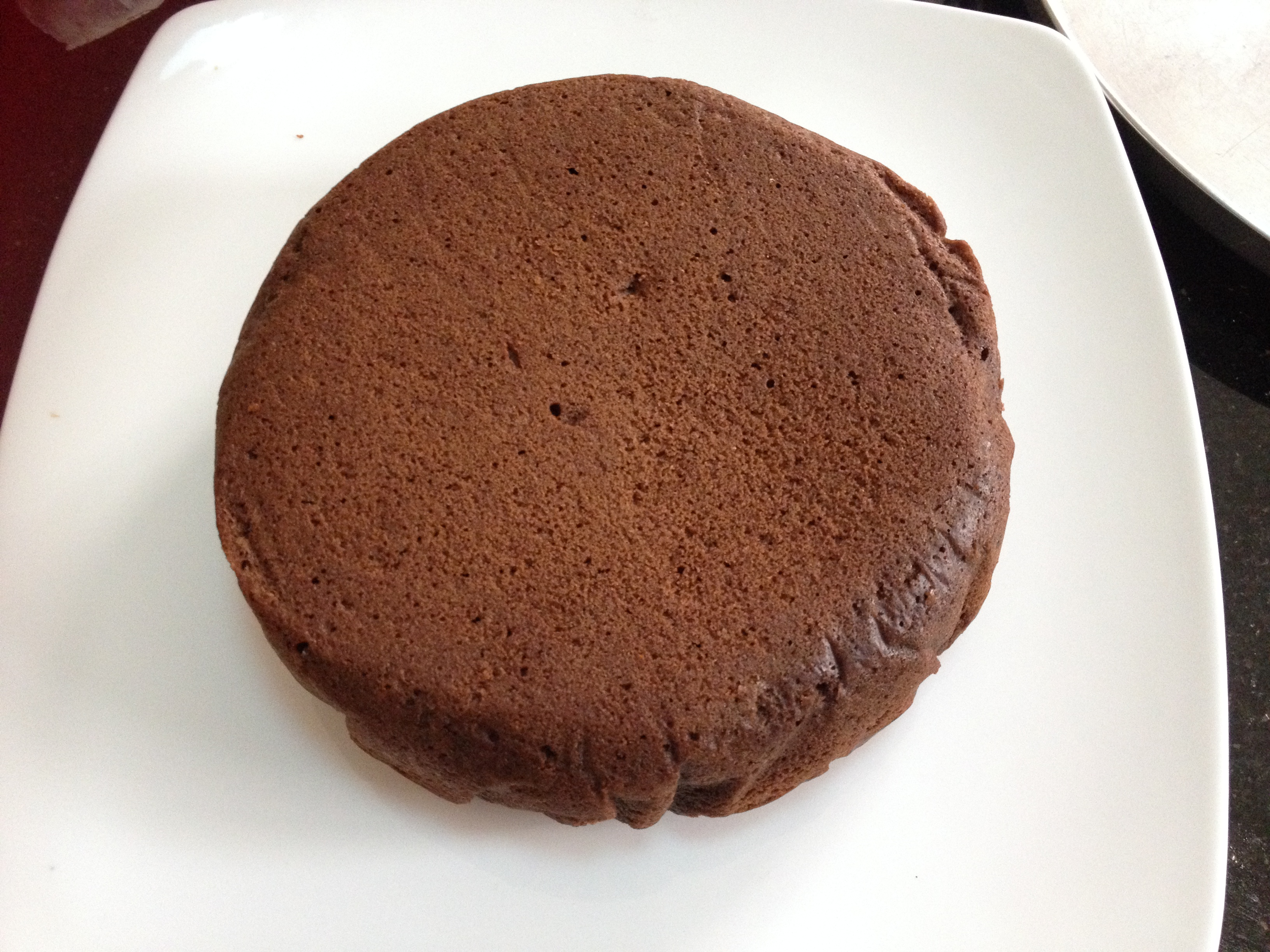 ... to make the cake with whole wheat – butterless and less sweeter too